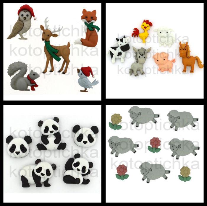 декоративные пуговицы, товары для рукоделия, пуговицы овечка, пуговицы новый год