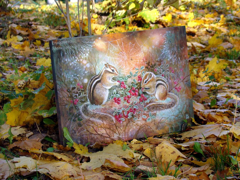 лес лесной осень, подарок детям ребенку, теплая гамма