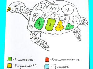 Рисуем календарь настроения «Черепаха». Ярмарка Мастеров - ручная работа, handmade.
