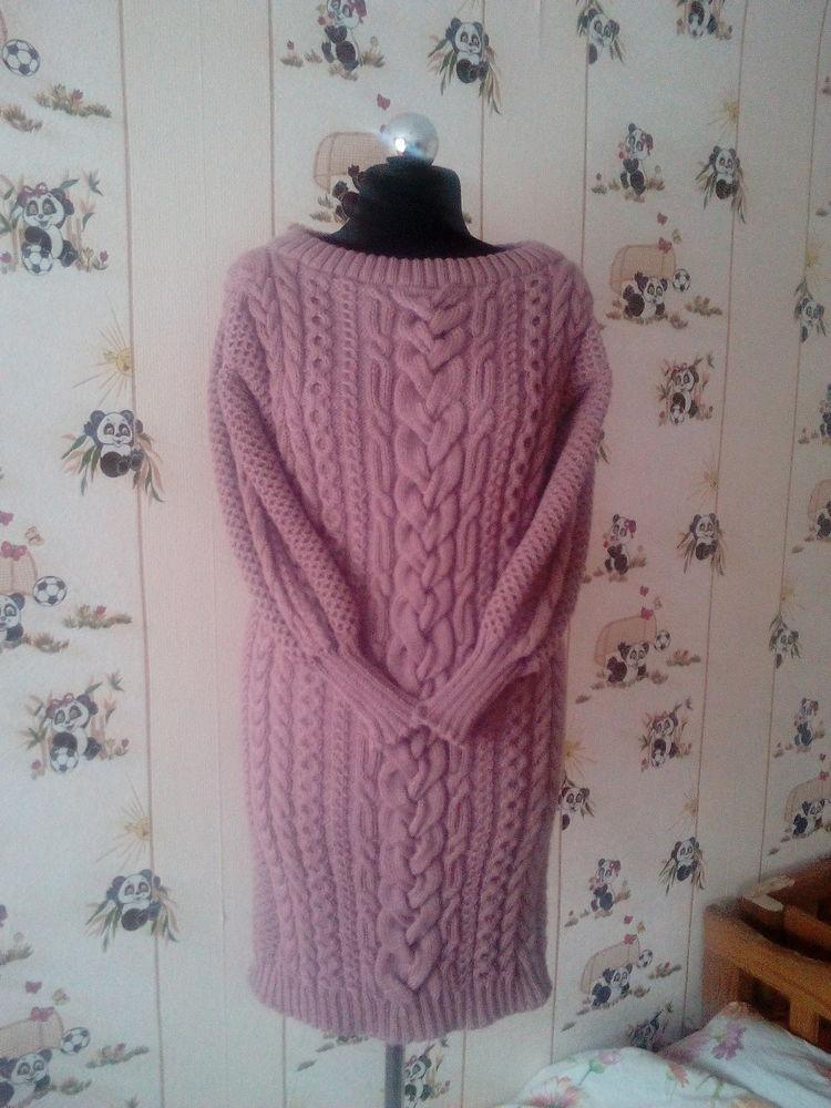 платье со скидкой, ручная работа, косы, пуловер вязаный