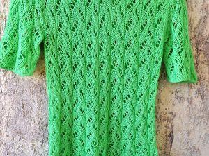 Новая работа: летний топ из 100% хлопка. Зеленый лайм. | Ярмарка Мастеров - ручная работа, handmade