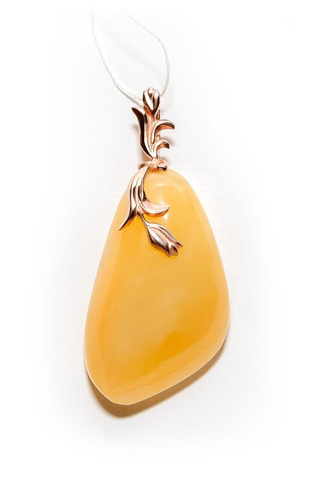 кулон ручной работы, золотые украшения, янтарь со скидкой, скидка 10%