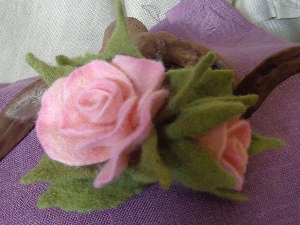 Мастер-класс по валянию цветка розы | Ярмарка Мастеров - ручная работа, handmade