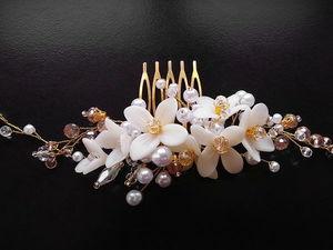 Создаем из полимерной глины свадебный гребень для волос. Ярмарка Мастеров - ручная работа, handmade.