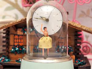 Винтажные Часы с будильником и танцующей балериной. Ярмарка Мастеров - ручная работа, handmade.