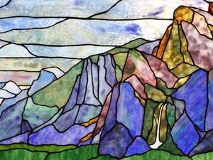 Красота гор в витражах. Ярмарка Мастеров - ручная работа, handmade.