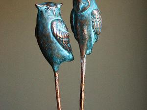 Шпильки совы. Ярмарка Мастеров - ручная работа, handmade.