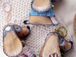 Новые елочные собачки уже в магазине). Ярмарка Мастеров - ручная работа, handmade.