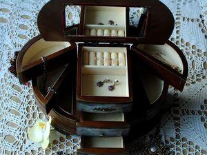 """Большая раскладная шкатулка """"Венецианские красавицы"""". Ярмарка Мастеров - ручная работа, handmade."""