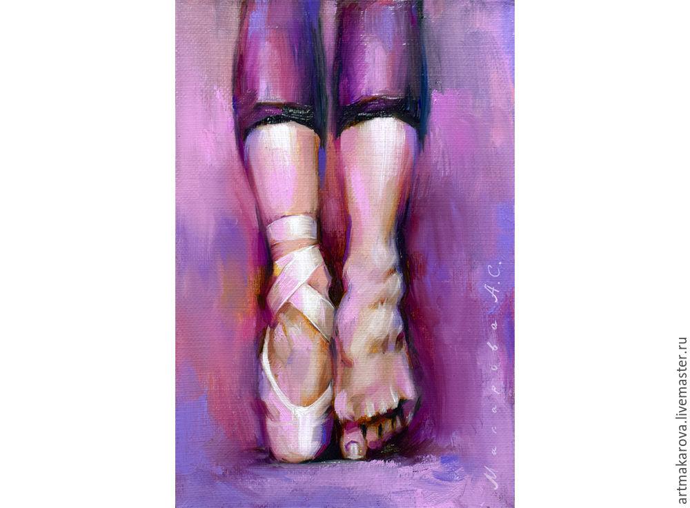 уроки рисования, балет, розовый, экспрессионизм