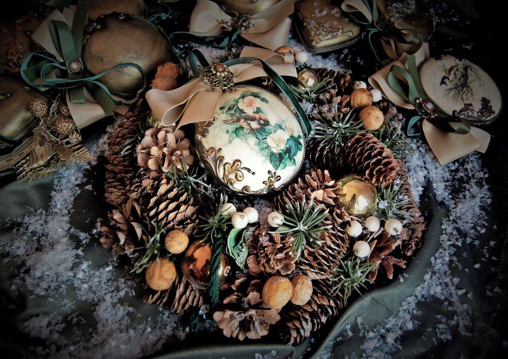 шкатулка в подарок, ёлочные украшения