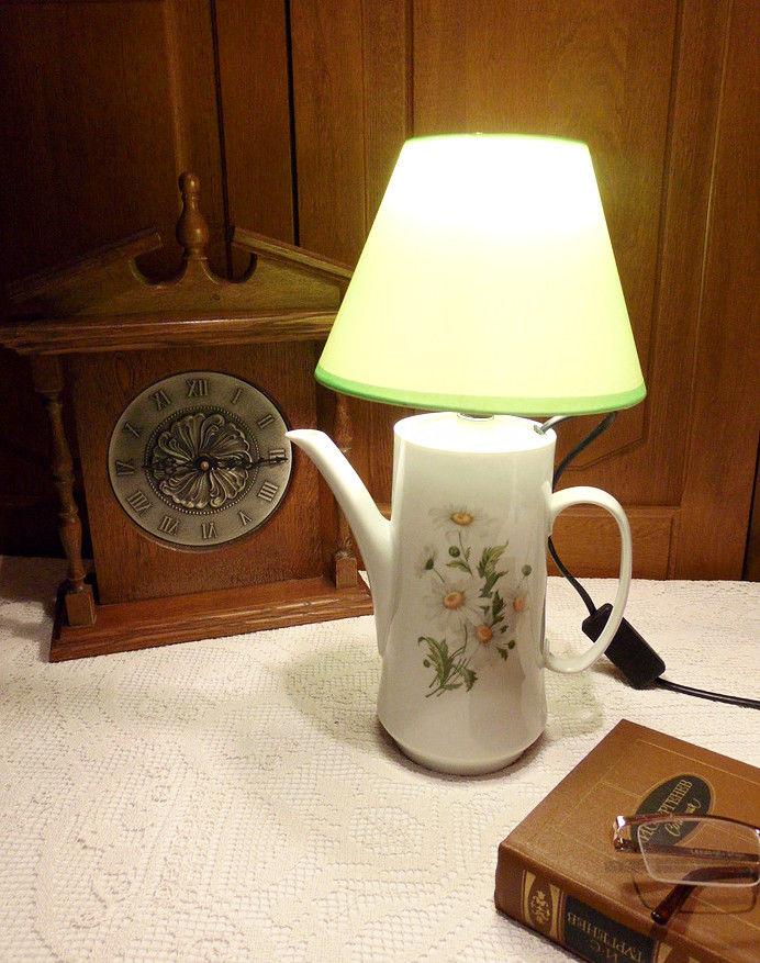 светильник из кофейника