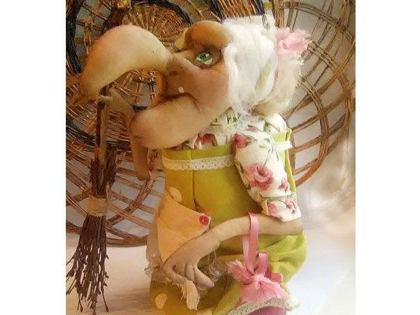 Баба Яга интерьерная игрушка | Ярмарка Мастеров - ручная работа, handmade