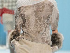 Меховые шарфы, манжеты, юбки и платья: модный тренд в нарядах известных дизайнеров | Ярмарка Мастеров - ручная работа, handmade