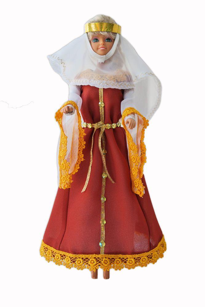 романский стиль, история костюма, одежда для кукол
