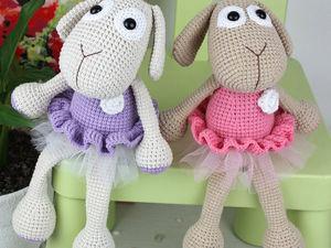 Мастер-класс по вязанию крючком игрушки овечки. Ярмарка Мастеров - ручная работа, handmade.