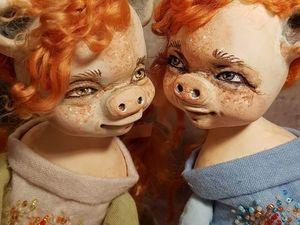 Новогодние Свинки. Ярмарка Мастеров - ручная работа, handmade.