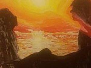 Картина на холсте по номерам. Влюблённые на закате. Ярмарка Мастеров - ручная работа, handmade.