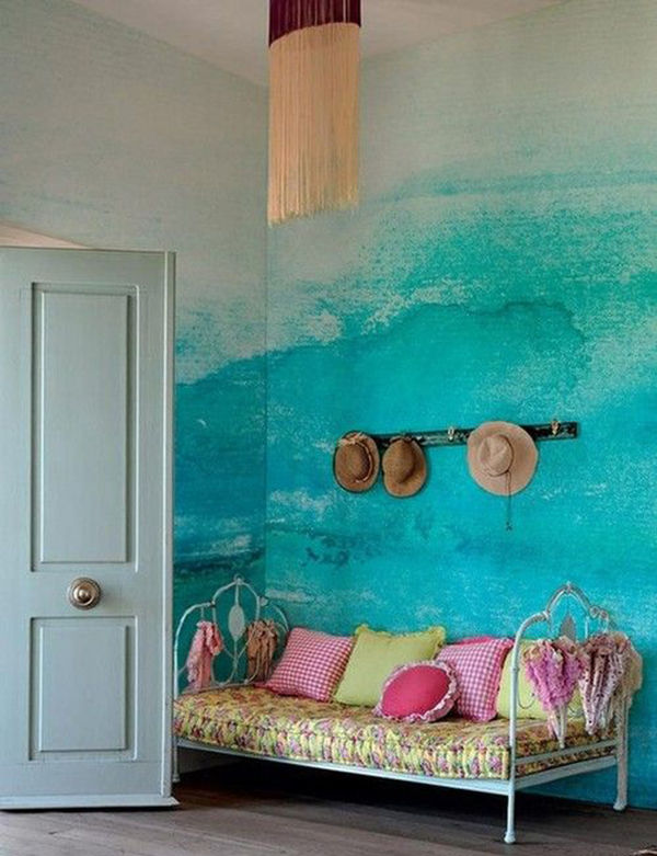 The Tenderest Interior: Abstract Watercolours on Modern Wallpapers, фото № 7