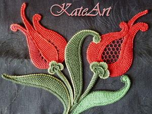 Тунисское вязание в ирландском кружеве.. Ярмарка Мастеров - ручная работа, handmade.