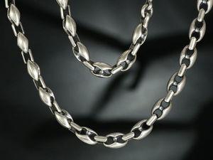 Цепь мужская серебро. Серебряная мужская цепочка. Ярмарка Мастеров - ручная работа, handmade.
