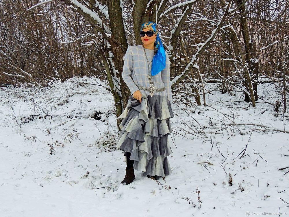 стиль бохо, зимнее платье
