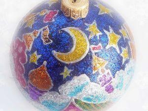 Ёлочные  шары большие ручной росписи. Ярмарка Мастеров - ручная работа, handmade.