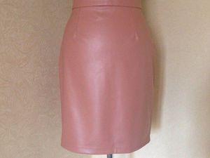 Кожаная юбка цвета НЮД | Ярмарка Мастеров - ручная работа, handmade