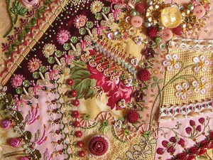 The Combination of Crazy Quilt and Embroidery in Stunning Masterpieces. Livemaster - handmade