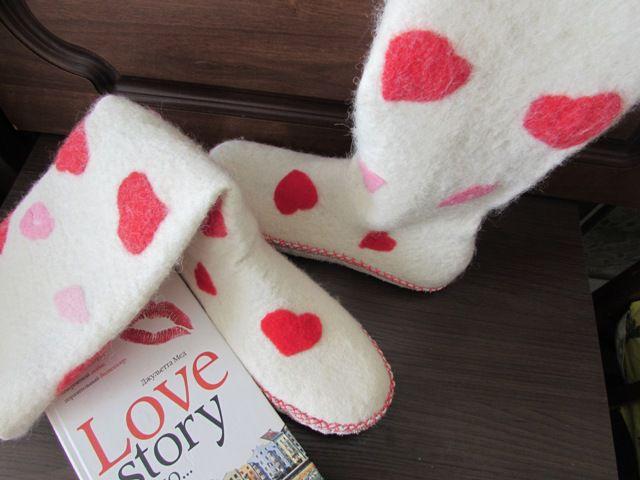 подарок, носочки из войлока