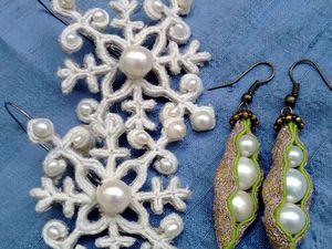 Сережки на выбор: прорезные или скань | Ярмарка Мастеров - ручная работа, handmade