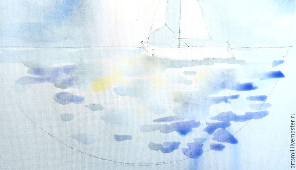 морская тема, рисуем акварелью