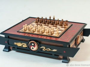 НОВИНКА!!! Эксклюзивный набор 3 в 1 (шахматы, нарды, шашки). Ярмарка Мастеров - ручная работа, handmade.