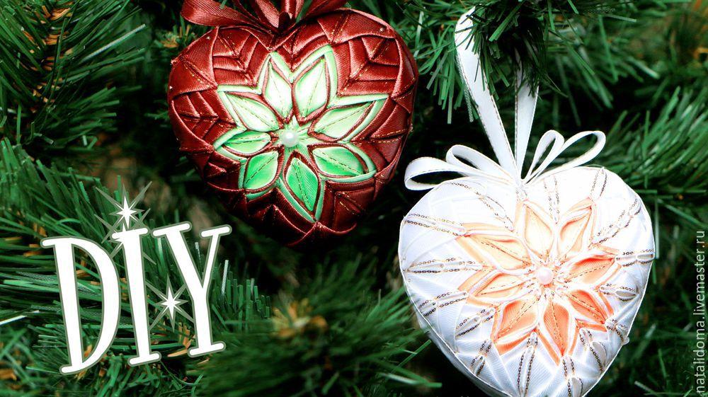 канзаши, шарики канзаши, ёлочные игрушки, новогодние игрушки, елочные шары