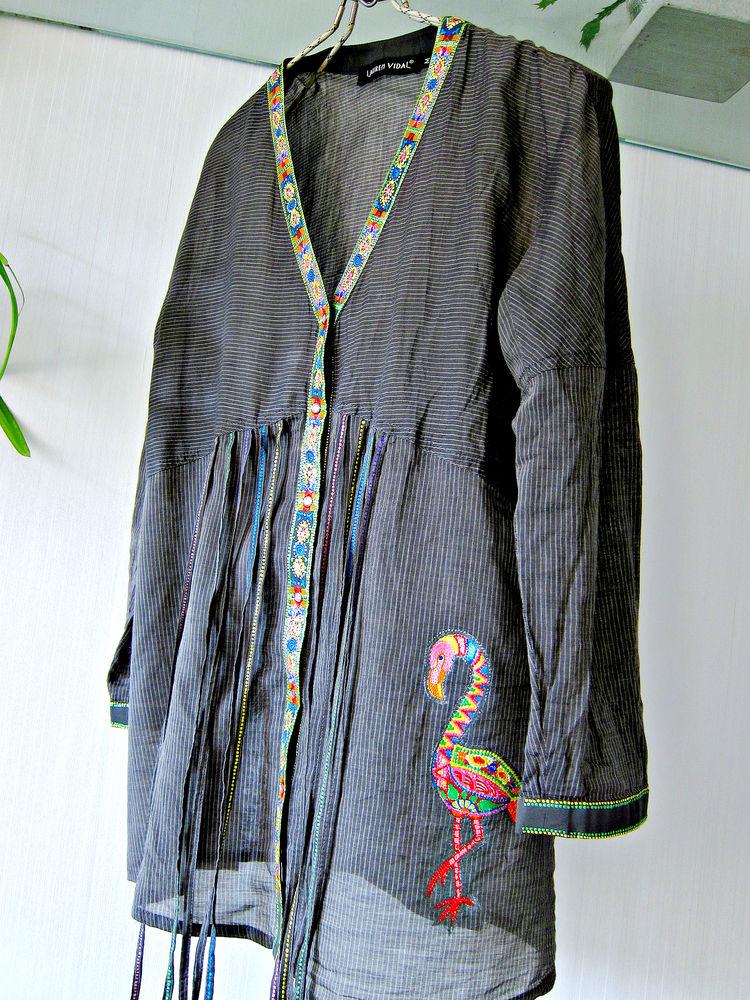 блузка с фламинго