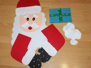 Шьем из фетра адвент-календарь «Дедушка Мороз». Часть 1. Ярмарка Мастеров - ручная работа, handmade.