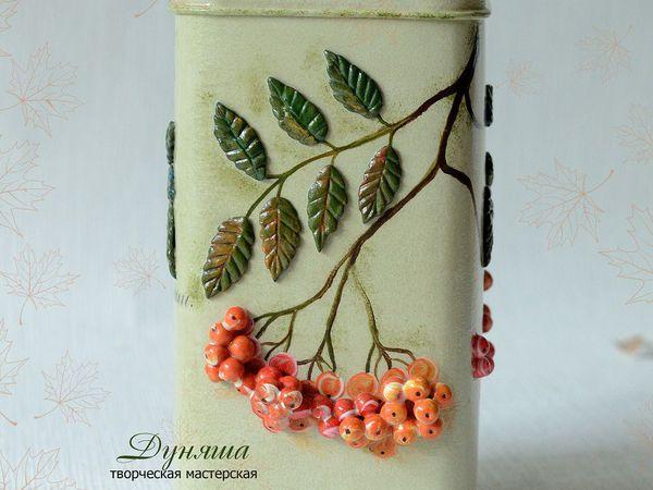 Мастерим короб с рябиной для мамы   Ярмарка Мастеров - ручная работа, handmade