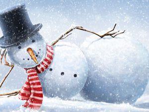 Веселый снеговик | Ярмарка Мастеров - ручная работа, handmade