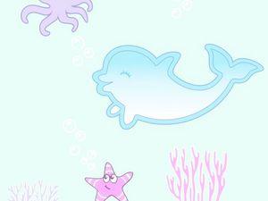 """Новая форма ночника """"Дельфин"""". Ярмарка Мастеров - ручная работа, handmade."""
