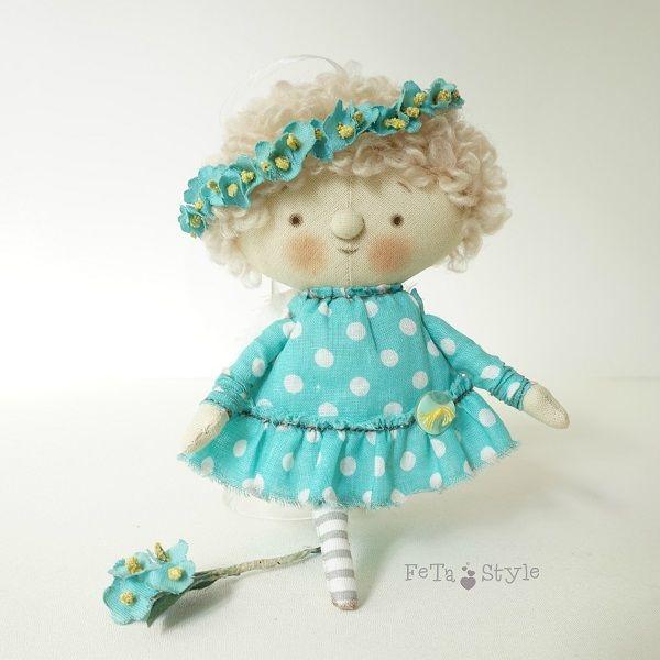 новая работа, кукла текстильная, мята мятный