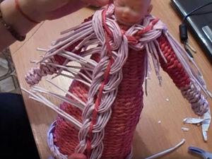 Видео мастер-класс: изготовление Деда Мороза из бумажной лозы. Часть 2. Ярмарка Мастеров - ручная работа, handmade.