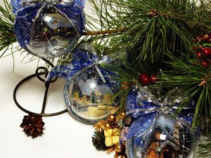 «Зимнее шале»: оригинальный декор ёлочного украшения. Ярмарка Мастеров - ручная работа, handmade.