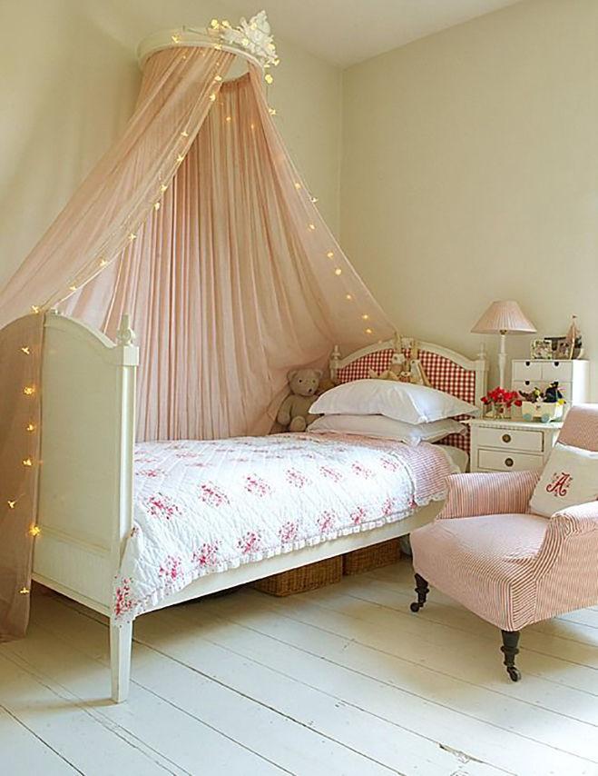 Балдахины над детскою кроватью фото