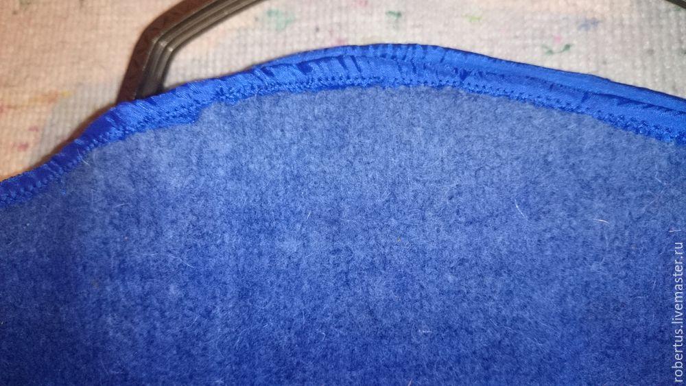 Мастер-класс: как сделать сумку с двойным фермуаром, фото № 21