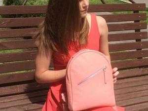 АКЦИЯ! Кожаный рюкзак со скидкой 10%!. Ярмарка Мастеров - ручная работа, handmade.