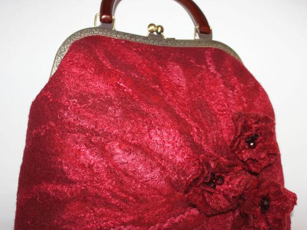 Мастер класс Валяение сумочки на фермуаре | Ярмарка Мастеров - ручная работа, handmade