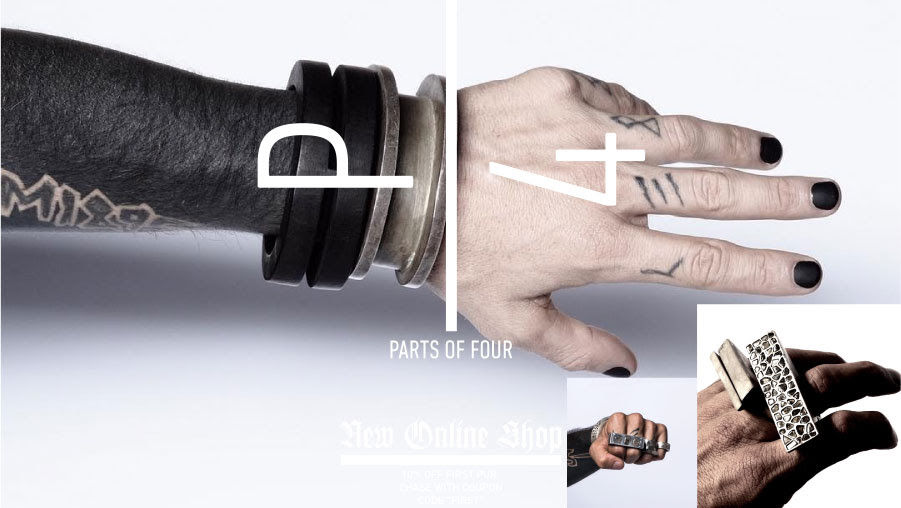 Концептуальный бренд Parts of Four, или Что получится, если объединить в украшениях рустик, лофт и индастриал