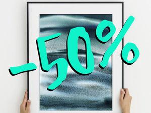 Скидка 50% на акварель «Три цвета моря». Ярмарка Мастеров - ручная работа, handmade.