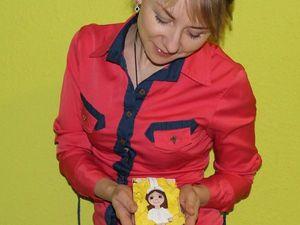 Медсестра (украшение на сумку) брелок из кожи в Воронеже. Авторская работа. Ярмарка Мастеров - ручная работа, handmade.