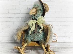Вариант подарка на новый год: птица счастья Шермен. Ярмарка Мастеров - ручная работа, handmade.